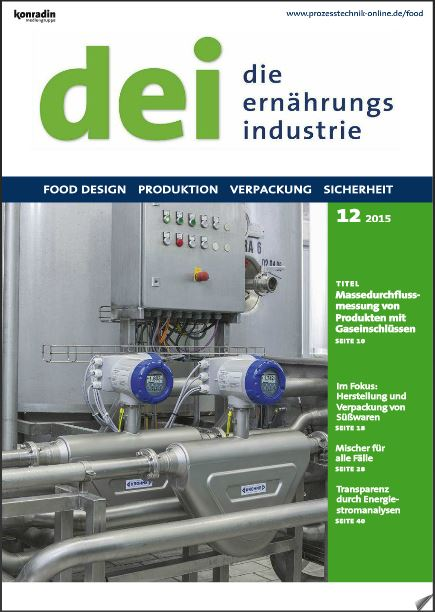 Dei - die Ernährungsindustrie 12 2015 Deckblatt