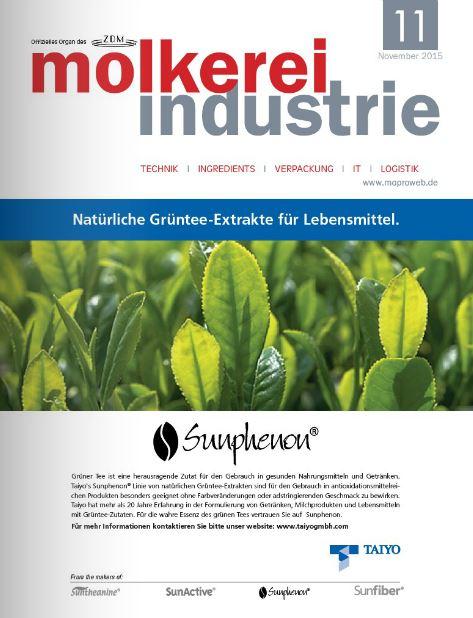 molkerei industrie 11- 2015 Deckblatt